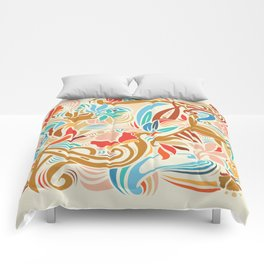 Abstract Florals Comforters