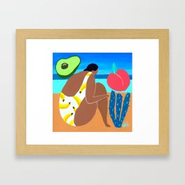 Banana summer Framed Art Print