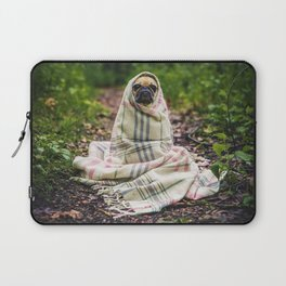 Snug pug in tartan Laptop Sleeve