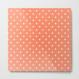 Peach Polka Dots Metal Print