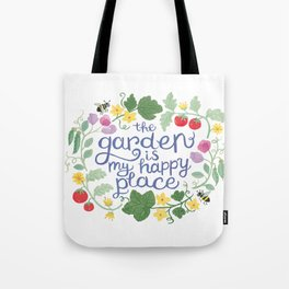 The Garden is My Happy Place Art Tote Bag