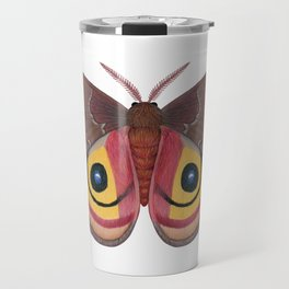 io moth (Automeris io) female specimen 1 Travel Mug