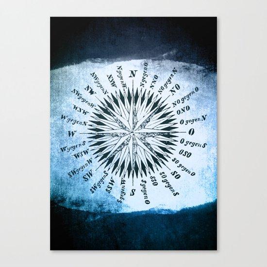 Windrose blue version Canvas Print