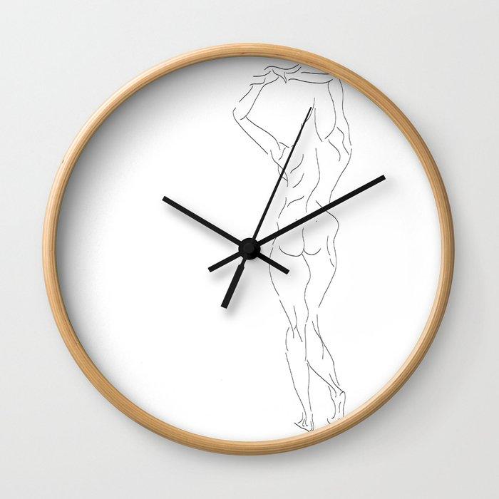 The woman Wall Clock