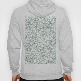 Green Leaves and Red Berries. Hoody