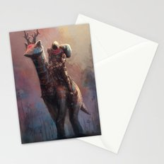 Creature rider long neck Stationery Cards