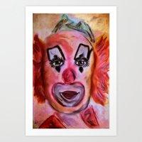 clown Art Prints featuring Clown by Digital-Art