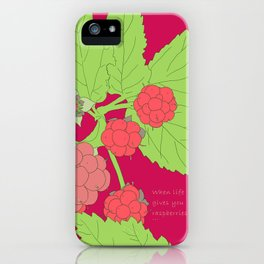 When life gives you raspberries... iPhone Case