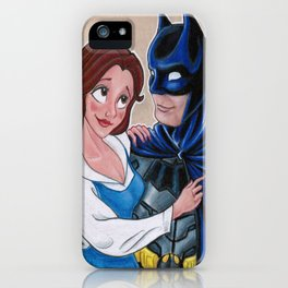 Beauty and the Bat iPhone Case