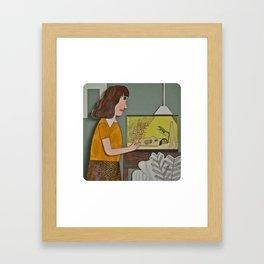 Lizard is my Friend  Framed Art Print