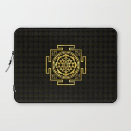 Golden Sri Yantra  / Sri Chakra Laptop Sleeve