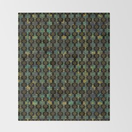 Endless Knot Pattern - Gold and Marble Throw Blanket