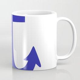 Anchor (Navy Blue & White) Coffee Mug