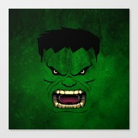 monster inc Canvas Prints featuring Monster Green by Inara