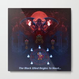 The Black Wind Metal Print