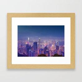 Hong Kong View V Framed Art Print