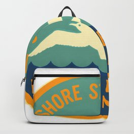 Seashore State Park Virginia Beach Camping Seagull Vintage Backpack