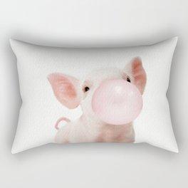 Bubble Gum Baby Pig Rectangular Pillow