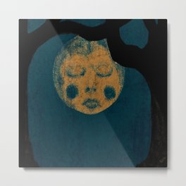 Moon With The Blues Metal Print