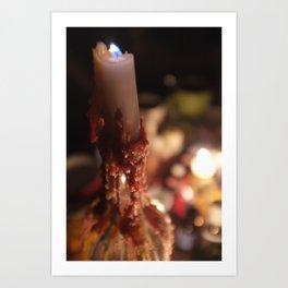 waxy candle Art Print