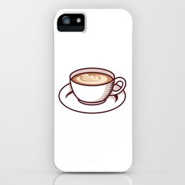 Coffee Cup With Flower Design iPhone Case