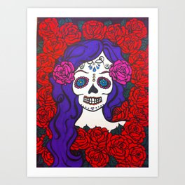 day of the dead skull 2 Art Print