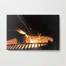 Fire spider Metal Print
