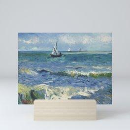 Vincent Van Gogh - Seascape at Saintes-Maries, 1888 Mini Art Print