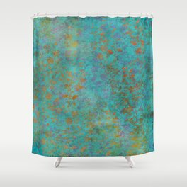 Fantaisie Floral Teal Shower Curtain