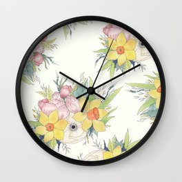 English Spring Garden Wall Clock