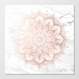 Imagination Rose Gold Canvas Print