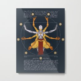 Vitruvian Omnic - color version Metal Print