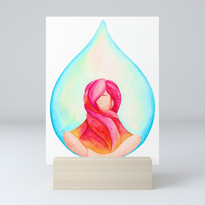 Tear Drop-Vivid Mini Art Print