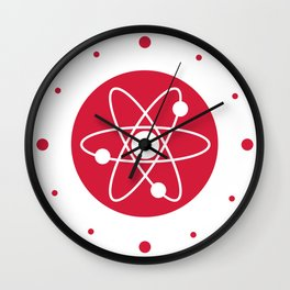 Atom Symbol Wall Clock