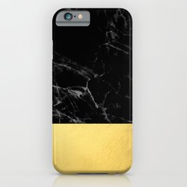Black Marble & Gold iPhone Case