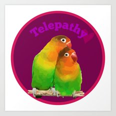 telepathy birds Art Print