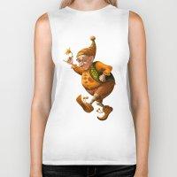 gnome Biker Tanks featuring Gnome by Olga Shefranov