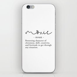 Moxie Definition - Minimalist Black iPhone Skin
