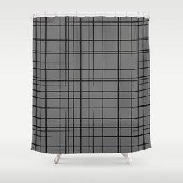 Cross Hatch Shower Curtain