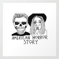ahs Art Prints featuring AHS by ☿ cactei ☿