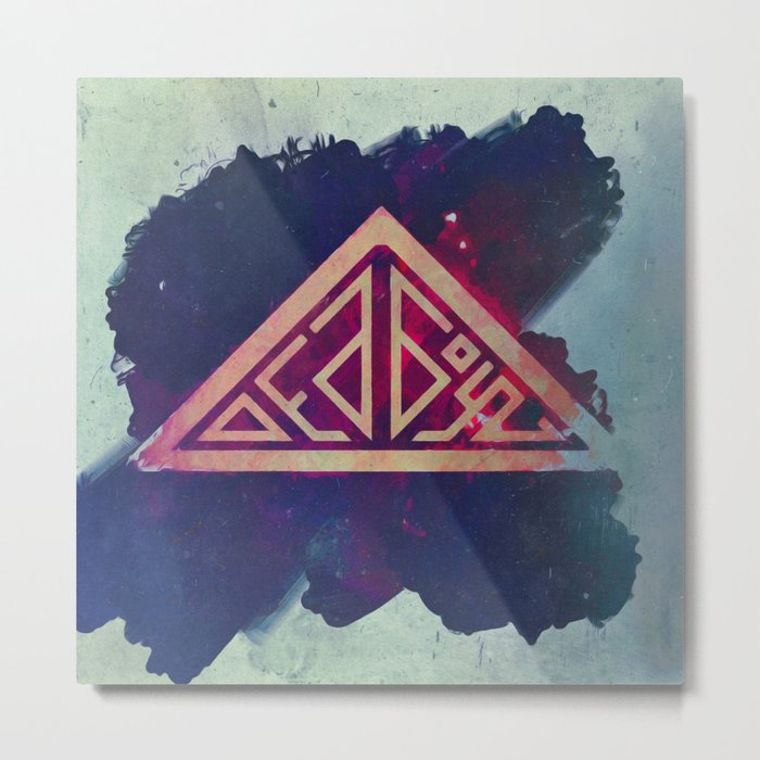 Ded Boyz Logo Painted Metal Print