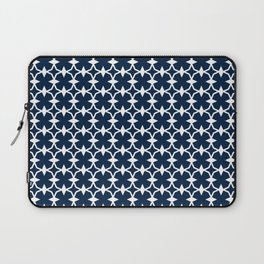 Blue + White   No. 1 Laptop Sleeve