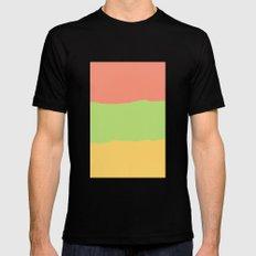 Rainbow Sherbet Mens Fitted Tee MEDIUM Black