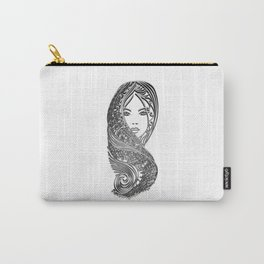 zentangle portrait 2 Carry-All Pouch