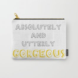 Absolutely and Utterly Gorgeous Grey/Yellow Carry-All Pouch