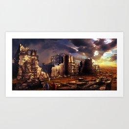 Building up Jerusalem Art Print