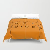 oitnb Duvet Covers featuring Remember - Orange is the New Black by kirstenariel
