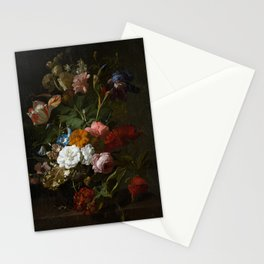 Moody Dark Flowers Stationery Cards
