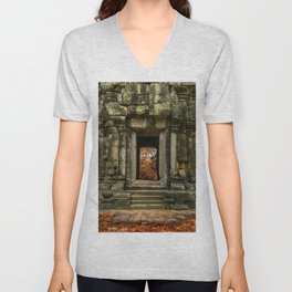 Mysterious Temple Unisex V-Neck