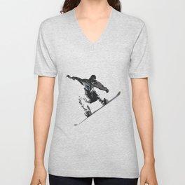 Snowboard Jumping Cartoon Unisex V-Neck